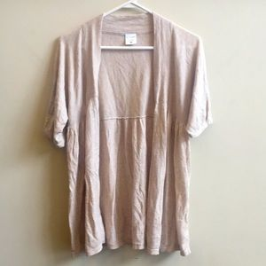 Short sleeve lightweight cream maternity sweater
